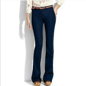 Madewell widelegger dark wash flare jeans 27
